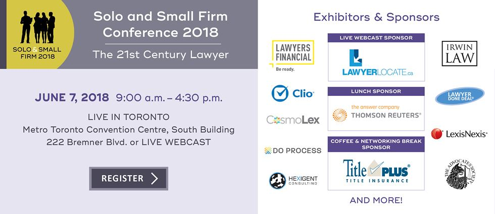 Solo and Small Firm Conference 2018